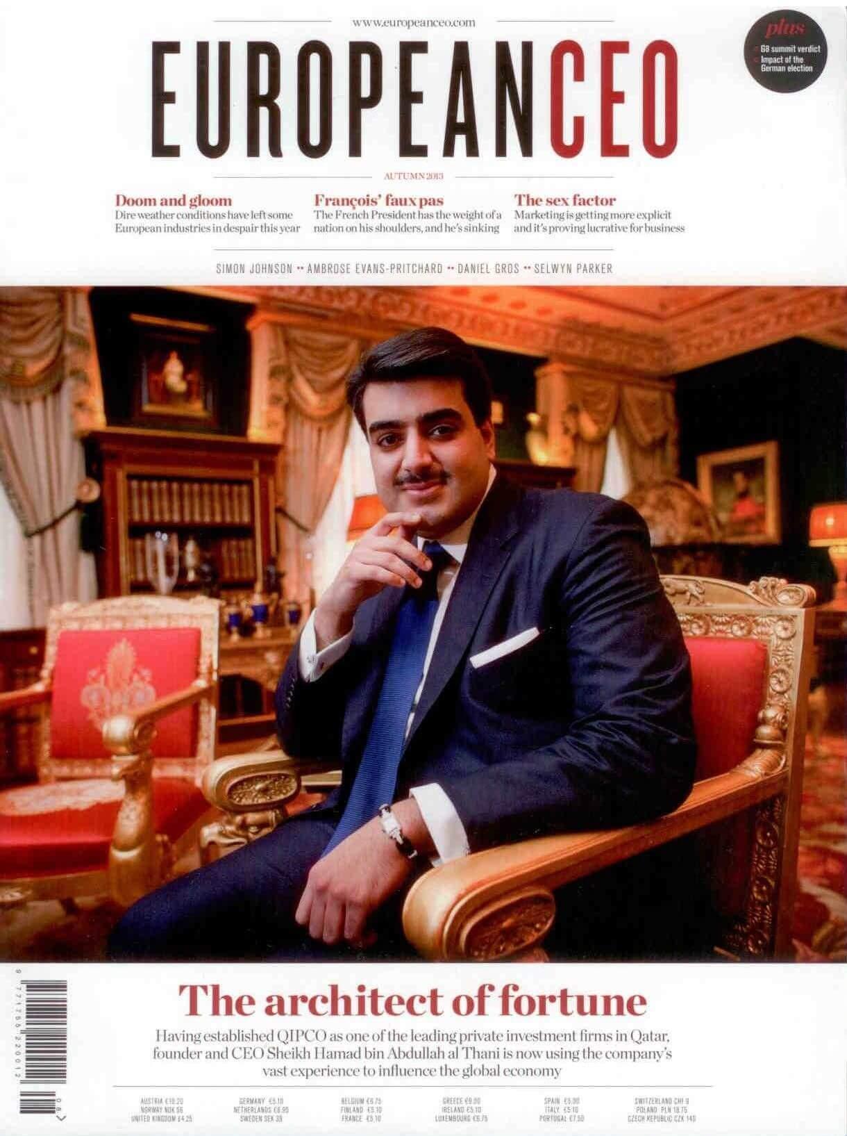 Majalah European CEO, Musim Gugur 2013