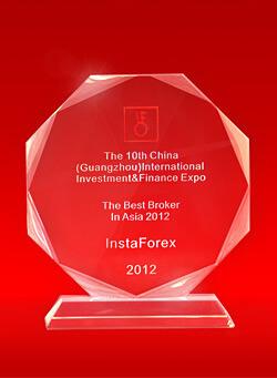 Broker Terbaik di Asia tahun 2012 pada 10th China Guangzhou International Investment and Finance Expo
