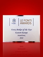 Broker Forex tahun ini di Eropa Timur 2018 menurut Le Fonti Award